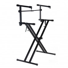 NB Portable 2 Tier Doubled Keyboard Stand with Locking Straps